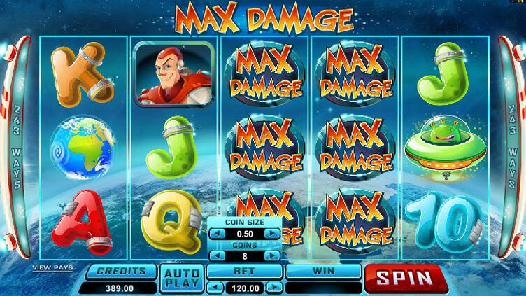 วิธีเล่นสล็อต ออนไลน์ Max Damage ภาพกราฟฟิกสุดอลังการ